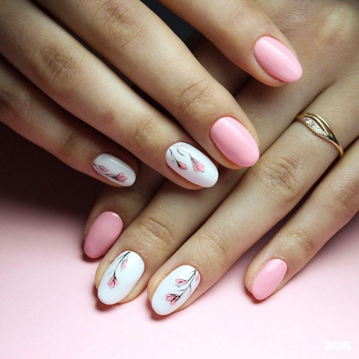 Шеллак фото дизайн на короткие ногти овальные