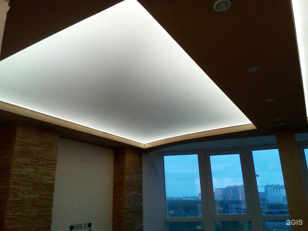 Как делать подвесной потолок подсветка