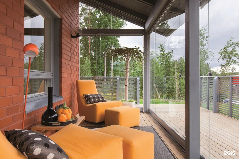 Как сделать панорамные окна на веранде