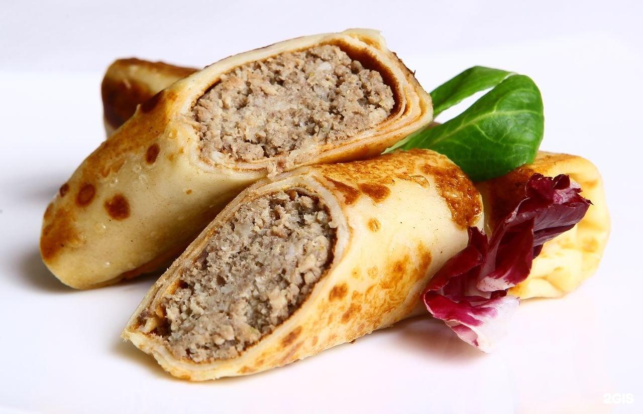 Блины с мясной начинкой рецепт пошагово