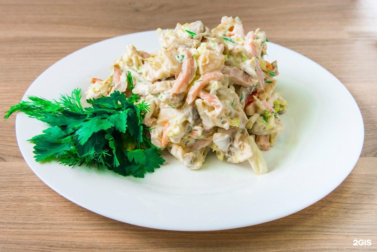 Салат с пекинской капустой и ветчиной рецепт очень вкусный