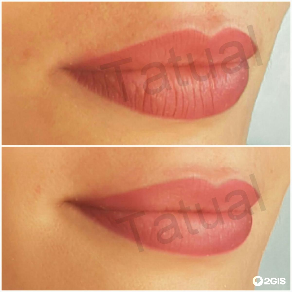 Тату губы фото до и после отзывы
