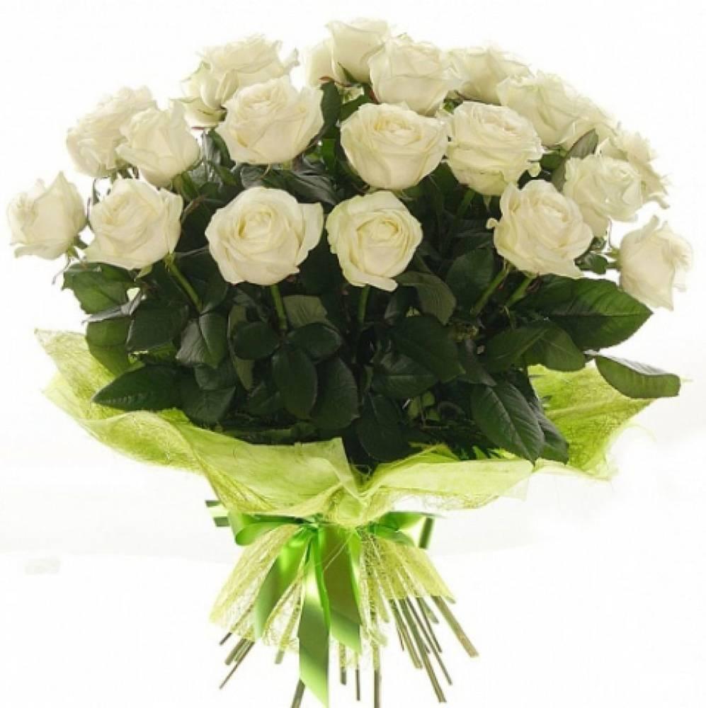 Букеты из белых роз, доставка цветов карте