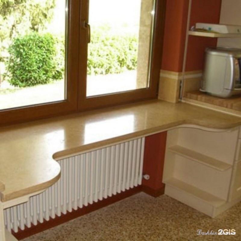 Кухонный подоконник - столешница. южный ветер - мебель для к.